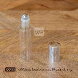 15ml Roll On Clear Bottle with Shiny Silver Cap