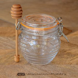 Honey Pot and Drizzler Spoon